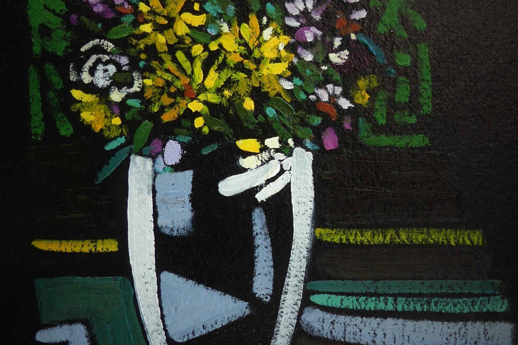White Vase | Modern Contemporary Still Life | Artist Painter Kim Pollard | Canada |