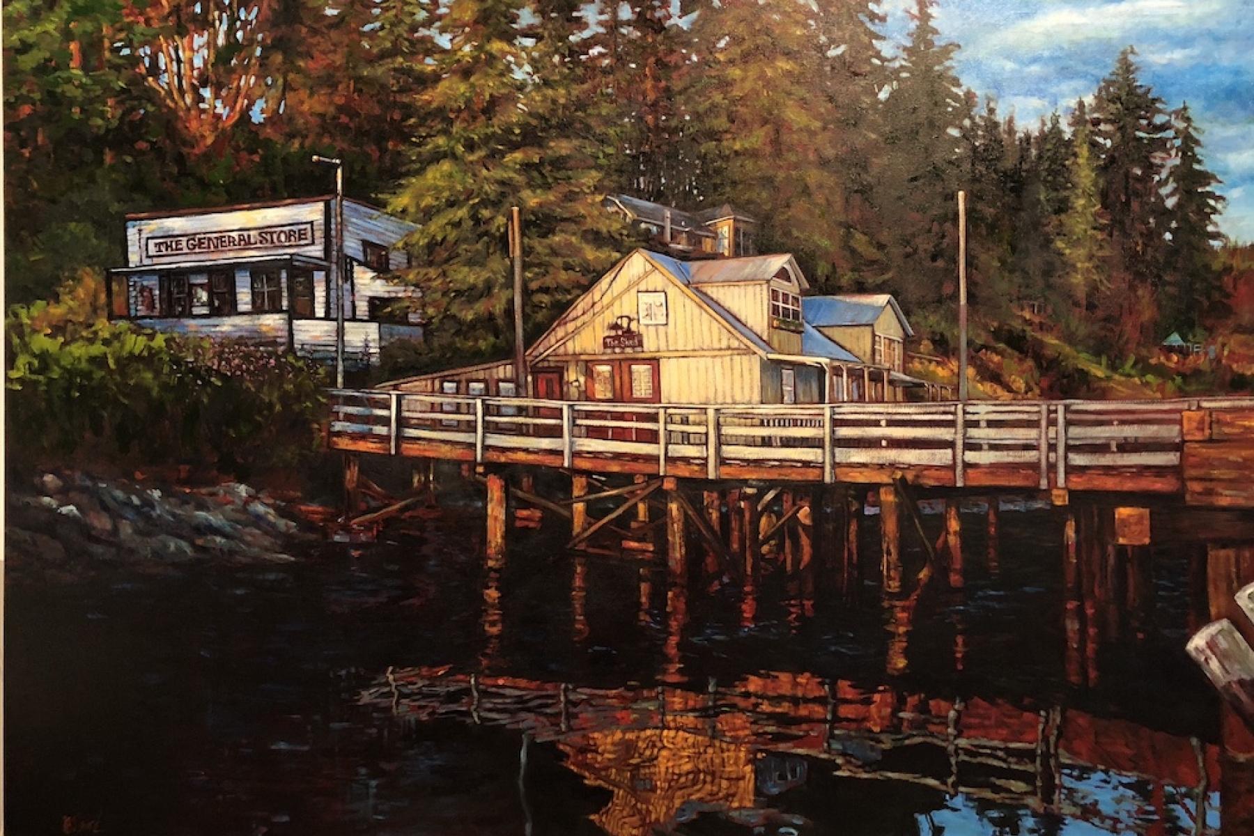 Port Washington, Pender Island, BC | Landscape Paintings | Kim Pollard | Canadian Artist | Pender Island | British Columbia